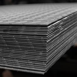 Tablă aluminiu striată tip Diamond