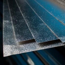 Tablă aluminiu striată tip Stucco